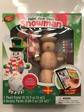 """MasterPieces Works of Ahh. """"Paint Your Own Snowman"""" Customize Kit New in Box"""