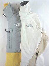 The North Face Lot of 2 Women's White Lightweight Fleece Jackets Small S AE12218