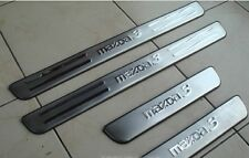 4 x Pieces Stainless Steel Door Sill Plates Set Mazda 3 All Models 2003-2008