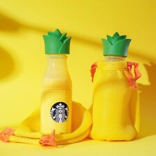 🍍2020 Starbucks Summer Yellow Pineapple Sunny Water Bottle Tumbler Carrier Bag