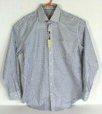 Peter Millar Nanoluxe Easy Care Mens L Purple Navy White Button Front Shirt L/S
