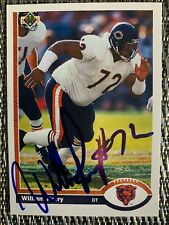 William The Fridge Perry - 1991 Upper Deck Autographed Signed Card Chicago Bears