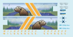 Alaska Railroad ARR Wilderness Express Dome Z Scale Decals Royal Caribbean Mckin