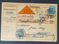 1922 Dusseldorf Bonn Germany Registered Advertising Invoice Bill Postcard Cover