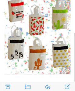 """Southwest And Smiley Happy Face Gift Bags Size 5 3/4 x 3 1/4 x 8 3/8""""  10 ct"""