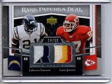 2007 UD Premier Rare Patches Dual LADAINIAN TOMLINSON LARRY JOHNSON /50