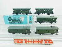 BP660-1# 5x Märklin H0/AC Personenwagen/Gepäckwagen: 4002+4003+4041, 1x OVP
