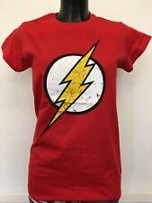 DC Comics The Flash T Shirt Distressed Lightening Bolt Logo Justice League