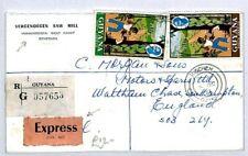 GUYANA Tuschen GB Southampton REGISTERED 1971 EXPRESS {samwells-covers} CW204
