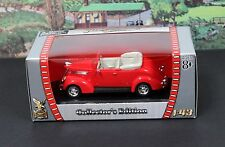 Yatming Road Signature 1:43 1937 Ford  Convertible MIB Red