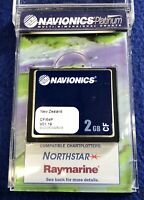 Navionics Platinum CF/64P New Zealand Raymarine CF Compact Flash Map Chart Card