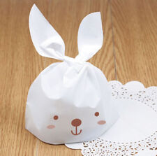 uk Easter White Rabbit Cute Party Bags Sweet Candy Kids Gift Cookie Bags x 10