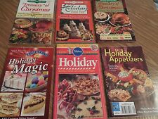 Lot of 6 HOLIDAY Recipe Cookbooks*Food Fun*Appetizers*Desserts*Cookies*Candy