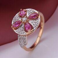RING mit Chrysopras und Fianiten russisches Gold Rose Rotgold 585 Neu Glänzend
