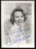 Terry Moore Signed Vintage Photo Autographed AUTO Signature