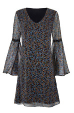 Cabi New NWT Size M Poise dress Fall 2018 blue brown, etc