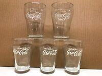 5 Vintage Coca-Cola Small Mini Fountain Libbey With White Star Coke