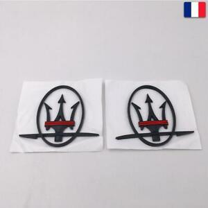 Paire Maserati côté Emblème Badge noir pour Ghibli, GranTurismo, Quattroporte