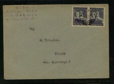 Poland 477  pair  Groszy  overprinted stamps         MS0424