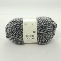 Rico Design Multi Color Effektgarn 50g Wolle Fb. 001 Grau Mix