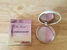 Too Faced CANDLELIGHT GLOW HIGHLIGHTING POWDER DUO Rosy Glow - NIB - FREE SHIP