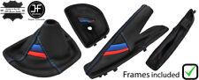 BLUE STITCH M STRIPE AUTOMATIC BOOT SET+PLASTIC FRAME FOR BMW E81 E82 E87 E88