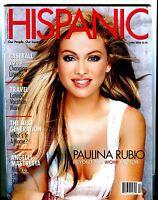 Hispanic Magazine April 2004 Paulina Rubio EX No ML 021517jhe