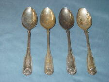 """4 Oneida Cube Community Silver Shell Silverplate 6 3/4"""" Oval Soup/Place Spoons"""