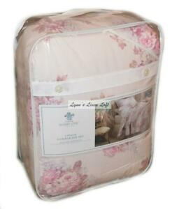 SIMPLY SHABBY CHIC Pink Blush Bouquet Floral 2PC TWIN COMFORTER SET NEW COTTON