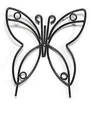 Large Wrought Iron Butterfly Garden Stake - Amish Handmade Lawn Wall Decor