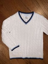 Janie And Jack Biys Sz 4T/4 Nwot White Cable Sweater Easter