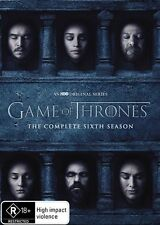 Game Of Thrones : Season 6 (DVD, 2016, 5-Disc Set) (Region 4) Aussie Release