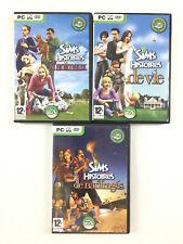 Lot 3 Jeu Les Sims Histoires Collection (de vie + de naufragés + d'animaux) PC