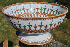 Colossal Antique Furnival Ironstone Staffordshire Footed Centerpiece Punch Bowl