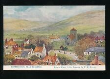 Sussex ROTTINGDEAN Water colour artist W H Borrow c1920/30s? PPC