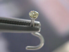 2.1mm 316L YELLOW DIAMOND NOSE SCREW,  SURGICAL STEEL DIAMOND NOSE RING