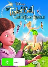 Tinker Bell And The Great Fairy Rescue (DVD, 2010) Disney Movie, New & Sealed R4