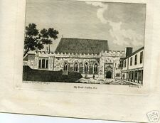 """LATE 1700S BLOCK PRINT OF """" ELY HOUFE LONDON ."""