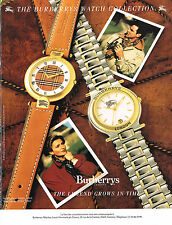 PUBLICITE ADVERTISING  1990    BURBERRY'S   LONDON  collection montre