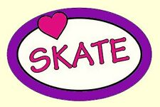 """6"""" Oval Love (Heart) Skate Car Magnet - Colorful & Sale Priced!"""