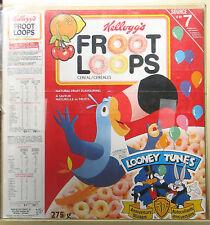 Kellogg's Fruit Loops Box LOONEY TUNES STICKERS CANADA