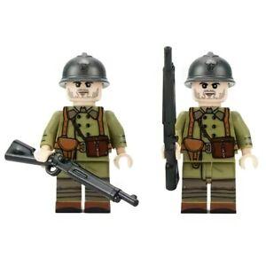 Lego ww2 minifigures Sodat Français bataille de France armée militaire jouet