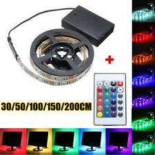 0.3-2M 5050 RGB LED Strip Light Battery Power Waterproof Christmas Light  !