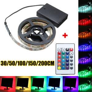 0.3-2M 5050 RGB LED Strip Light Battery Power Waterproof Christmas Light