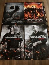 The Expendables 2 Original Movie Poster 27x40 Double Sided Lot Of 4 2012