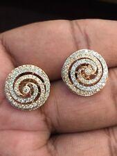 1,37 Cts Runde Brilliant Cut Natürlichen Diamanten Ohrstecker In Feines 14K Gold