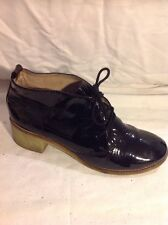 Bertie Black Ankle Leather Boots Size 39