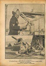 Red Skin Oeil de Faucon US Navy Periscope /Mortier Machine WWI 1918 ILLUSTRATION