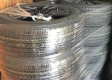 "18"" Wheel Tire Black 10 Spoke Aluminum 18x8 245/60R18 Bridgestone Honda Oem Set"