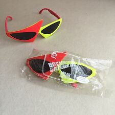 Retro VINTAGE 1989 Back TO The FUTURE 2 Pizza Hut SCI-FI Promo SUNGLASSES~Sealed